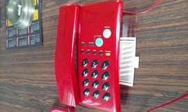 telefono ejecutivo de epoca 1980 rojo funciona.