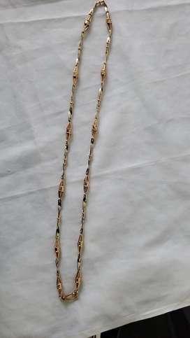 Cadena de oro italiano 18k tejido dubai