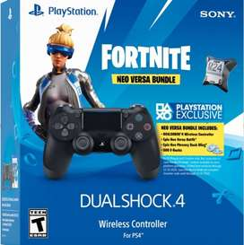 PS4 CONTROL NEGRO BUNDLE FORTNITE