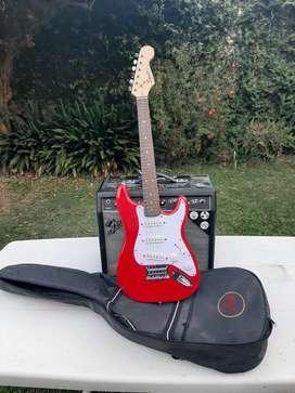 Fender Squier Mini + Amplificador Fender Vibro Champ XD (valvular)