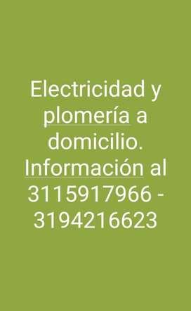 Electricidad Y Plomeria a Domicilio