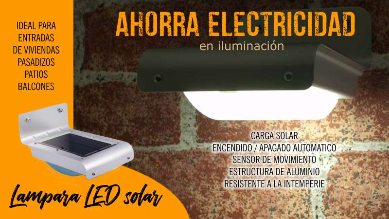 Lampara solar luces LED