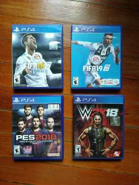 Lote de juegos de Play 4