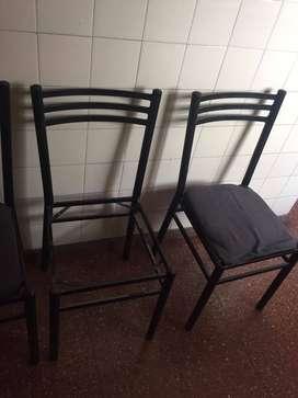 Juego 4 sillas
