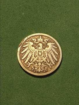 #Moneda Imperio Aleman 5 pfening 1898898