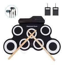 Set Batería Electrónica Plegable Flexible Musical Niños Mp3