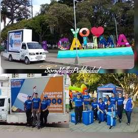 Servicio de personal logistico y Publicidad Carro Valla