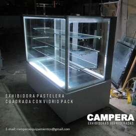 VITRINA EXHIBIDORA CUADRADA CON VIDRIO PACK - CAMPERA PRO