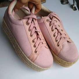 Zapatos plataforma yute talla 36