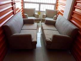 Sala completa dos sofá doble dos poltrona sencilla tapizado nuevo sillón muebles