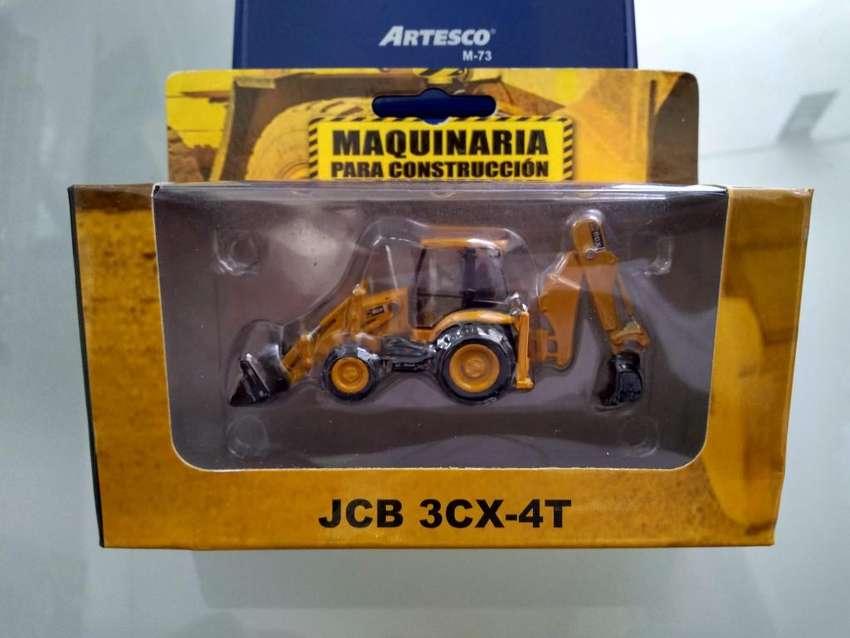 1/87 Maquinaria Construccion JCB 3CX4T Dakar Auto Bus Carro Tanque 0