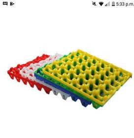Casilleros de plasticos para huevos