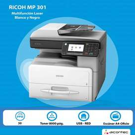 Fotocopiadora Multifuncional Ricoh MP 301 SPF Remanofacturada - Con garantia