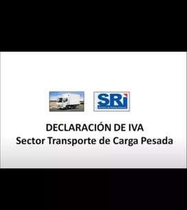 SRI DECLARACIONES - SECTOR DE TRANSPORTE DE CARGA PESADA.