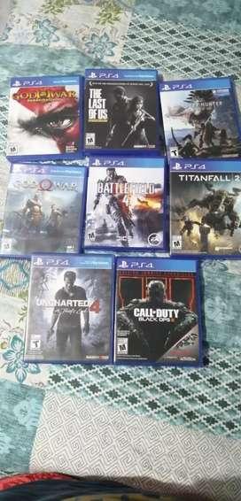Vendo video juegos para Ps4