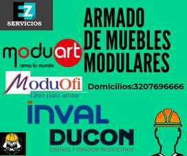 ARMADO DE MUEBLES EN MDF (MODULARES)