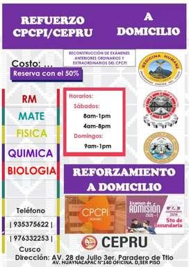 CLASES DE MATEMATICAS FISICA RM A DOMICILIO