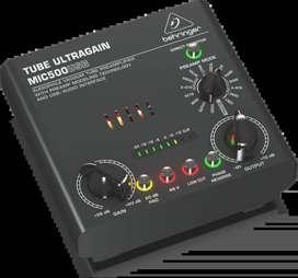Preamplificador Behringer MIC500USB Music Box Colombia intarfaz audio tubos
