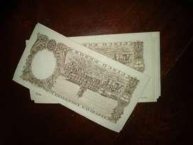vendo billetes antiguos argentina de cinco peso de 1947.