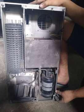 Realizó trabajos de mantenimiento instalación reparación de equipos de aire acondicionado