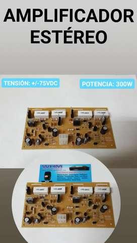 Tarjeta de sonido 300W dual 75V