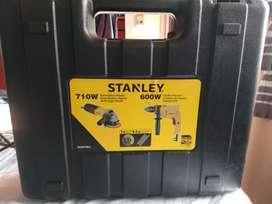 Amoladora + taladro Stanley + maletin