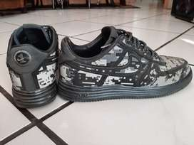 Nike Lunar Force 1 Low Digi Camo Black