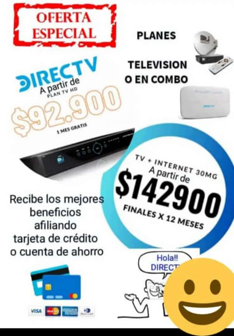 Internet autoinstalable + telévision satelital