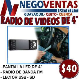 "RADIO VIDEO MP4 4"""