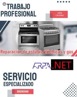 Mantenimiento y Reparación de sus estufas desde cualquier tipo de marca especialista en Gasodoméstico