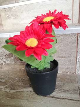 Gerbera artificial en maceta