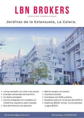 Departamento de dos dormitorios con cochera. Jardines de la Estanzuela, La Calera.
