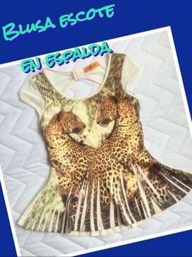 Blusa Animal Print Nueva talla M