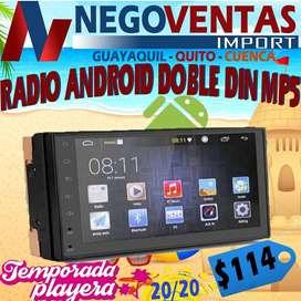 RADIO PANTALLA ANDROID DOBLE DIN MP5 SLIM BLUETOOTH USB SD AUX FM PARA CARROS