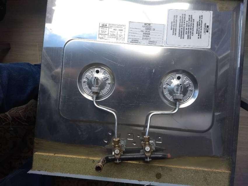 Mesón galvanizado estufa 2 ptos lavaplatos 0