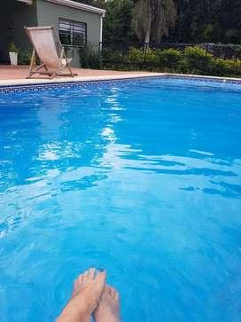 Hermosa casa a metros del Rio con piscina.