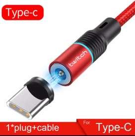 Cable magnético tipo c o entrada para iPhone
