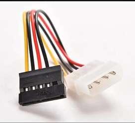 2 Cables Corriente Molex Ide 4 Pines A Sata