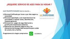 SERVICIO DE ASEO Y LIMPIEZA PARA SU HOGAR