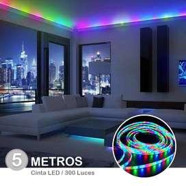 Cinta LED Rollo Por 5 Metros + Control +Cargador super promocion