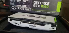 Placa de video ASUS GTX 1060 6gb ASUS DUAL con backplate personalizado