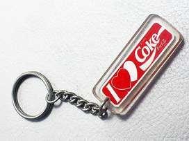 Llaveros clásicos de Coca Cola