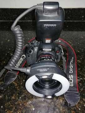cámara fotográfica para odontología + rin flash + extensor es para fotografía macro