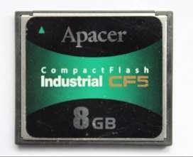 Tarjeta Memoria Compact Flash Apacer Industrial 8GB CF5