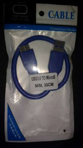 Cable usb3.0 a micro B de 30 cm de longitud