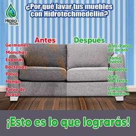 Lavado y desinfección de muebles, Salas, persiana y Tapetes