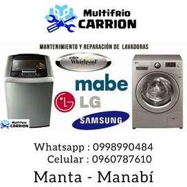 Servicio Tecnico en lavadoras manuales y digitales