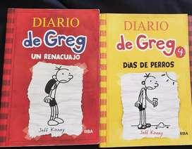 Libros de Greg tomos 1 y 4 excelente estado
