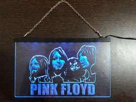 Totem acrílico decorativo de iluminación led de Pink Floyd
