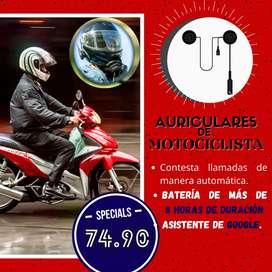AUDIFONOS BLUETOOTH 4.0 PARA CASCO DE MOTO